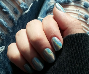 alternative, holographic, and nails image