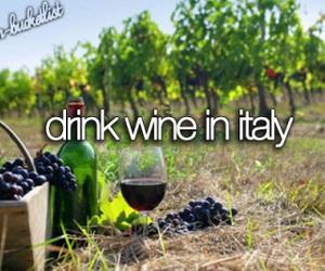 wine, italy, and bucket list image