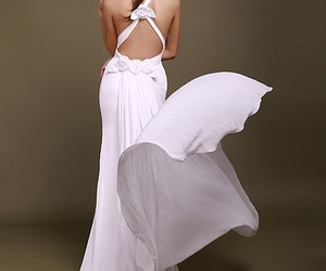dress, evening dresses, and girl image