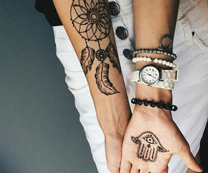 tattoo, hipster, and style image