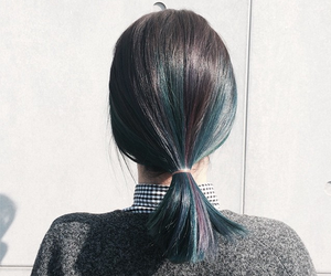 hair, style, and blue image