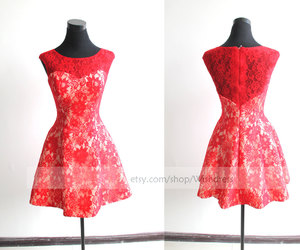 etsy, dress for wedding, and red lace dress image