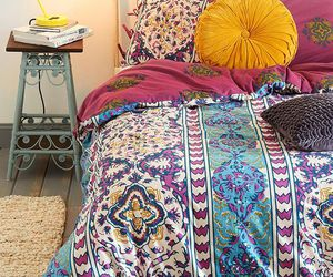 boho and bedroom image