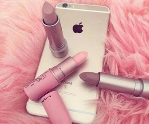 iphone, lipstick, and makeup image