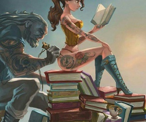 tattoo, disney, and book image