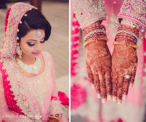 marriage, indian bride, and bridal makeup image