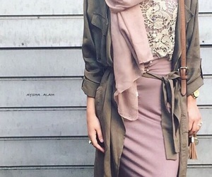 green, hijab, and style image