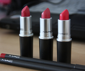 mac, lipstick, and red image