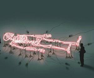 light, skeleton, and neon image
