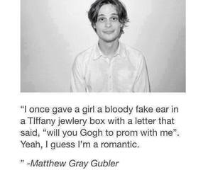 romantic, funny, and matthew gray gubler image
