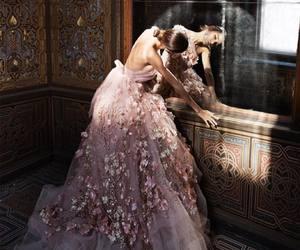 dress, wedding, and beautiful image