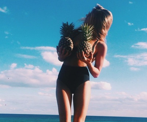 pineapple, blonde, and girl image
