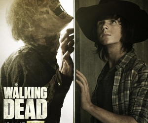carl grimes, the walking dead, and twd image