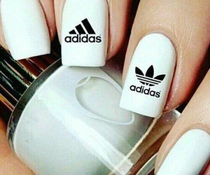 adidas, black, and nail image