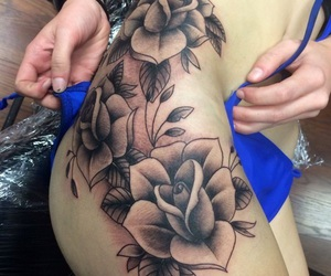 tattoo, rose, and sexy image