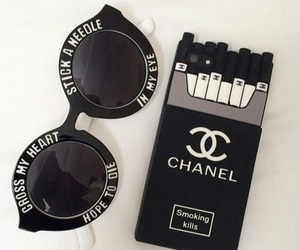 black, chanel, and style image