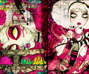 dead, pink, and gothic image