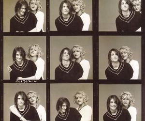 kurt cobain, Courtney Love, and couple image