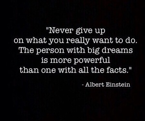 Albert Einstein, don't give up!, and determination image