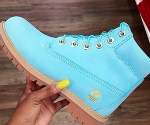 shoes, blue, and timberland image