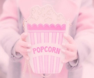 popcorn, cute, and pink image
