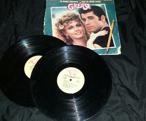 grease, records, and vintage image