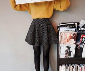 black, kfashion, and skirt image