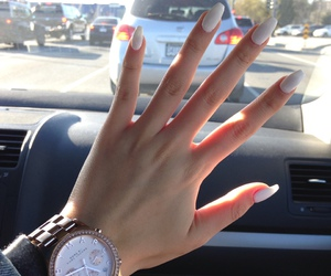 fake nails, nail art, and watch image