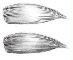drawing, hair, and hair drawing image