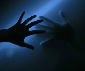 blue, dark, and hands image
