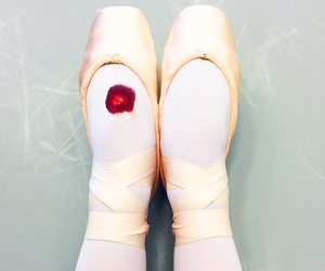 ballerina, ballet, and blood image