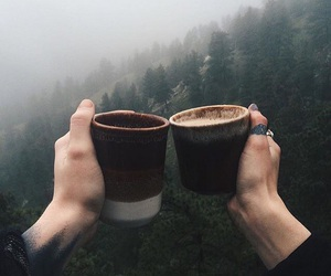 coffee, travel, and nature image