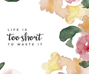 wallpaper, quotes, and flowers image