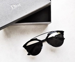 dior, sunglasses, and black image