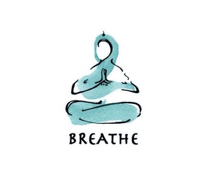 yoga, aesthetic, and breathe image