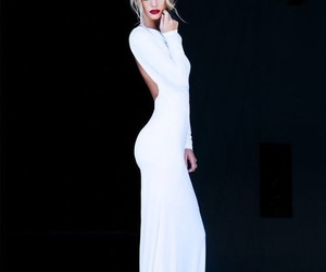 blonde, dress, and white image