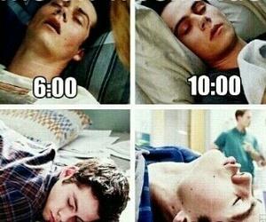 funny, sleeping, and teen wolf image