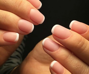 beige, french, and nails image
