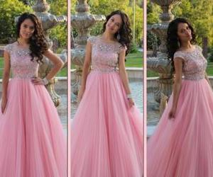 prom gown, long evening dresses, and beaded prom dresses image