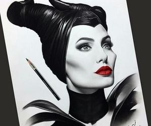 art, maleficent, and Angelina Jolie image