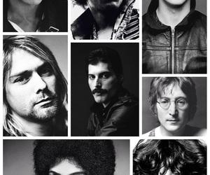 david bowie, Freddie Mercury, and gone image