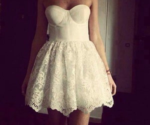 dress, lovely, and white image