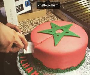 birthdaycake, cake, and red image