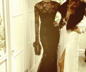 dress, model, and rosie huntington-whiteley image