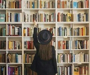 books, girl, and love image