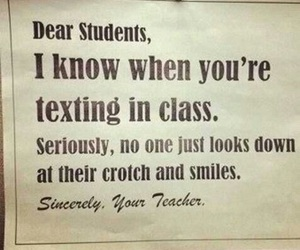 funny, teacher, and student image