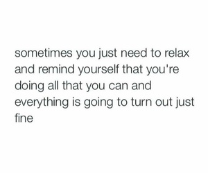 relax and quote image