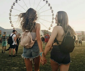 coachella, summer, and friends image