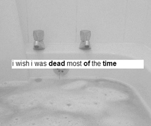 dead, sad, and depression image