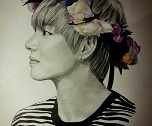 v, bts, and fanart image